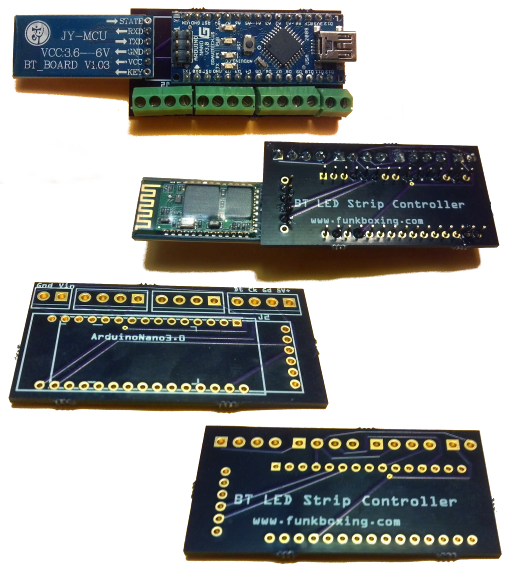 Arduino LED/Bluetooth 'Breakout Board' and 2D LED Array » funkboxing