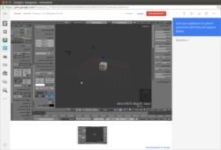 Blender Live Tutoring / Instruction on G+ Hangouts On Air